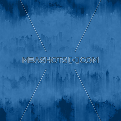 Blue abstract grunge surface texture background with uneven dark black paint ink runs and strokes