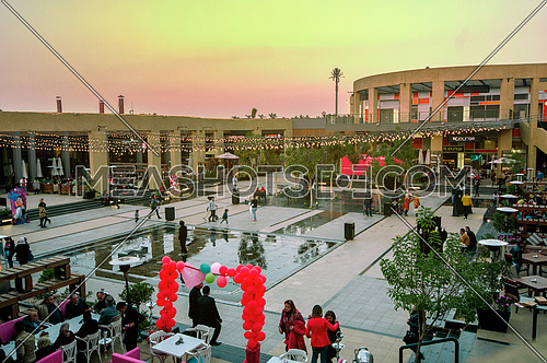 The Hub outdoor mall in cairo