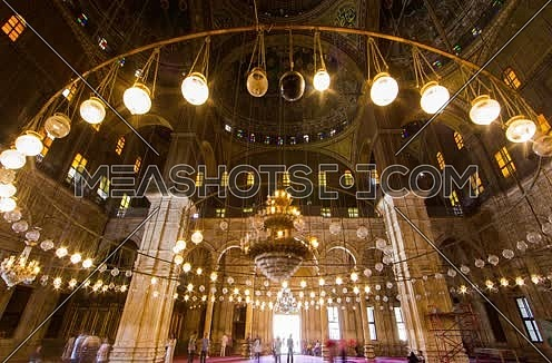 Timelapse inside Mohamed Ali mosque at Saladin Citadel in Cairo
