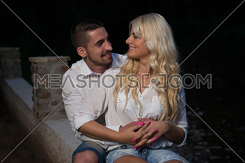 Young Couple In Love Outdoor - Stunning Sensual Outdoor Portrait Of Young Stylish Fashion Couple Posing In Summer In Field