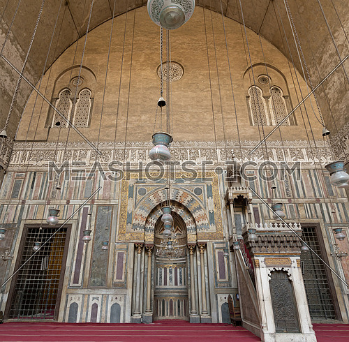 Interior of Sultan Hasan Mosque, Cairo, Egypt