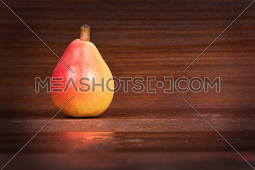 In the picture one pear  \