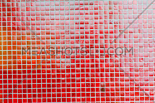 small red tiles background mosaic