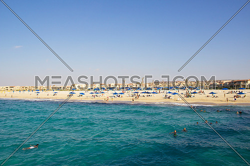 View of the beach - Mediterranean sea
