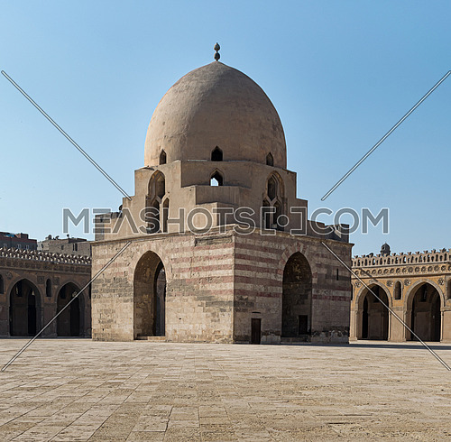 Ablution fountain at the courtyard of the Mosque of Ibn Tulun, Cairo, Egypt