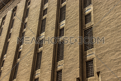 a photo for a historical mosque in old Islamic Cairo , Egypt showing the architecture style used at that time
