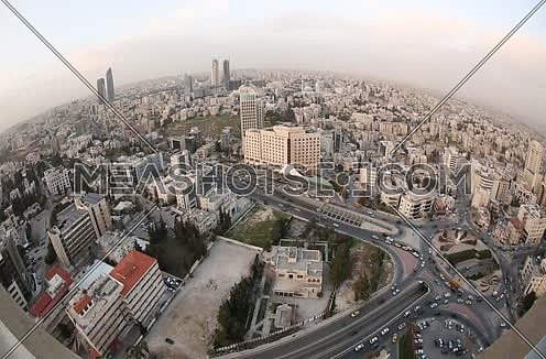 General Shot For Amman Showing Third Circle And Abdali Towers