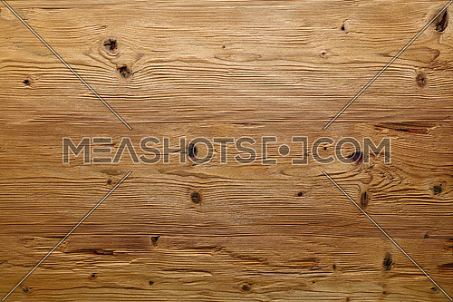 Brushed natural unpainted light knotted wooden planks board texture background close up