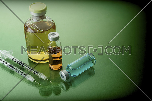 Medicine In Vials, Ready For Vaccine Injection