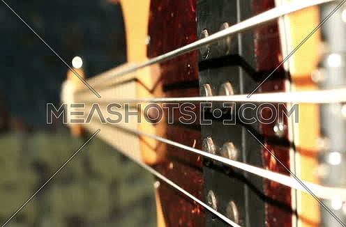 left handed Guitar Player Playing Bass