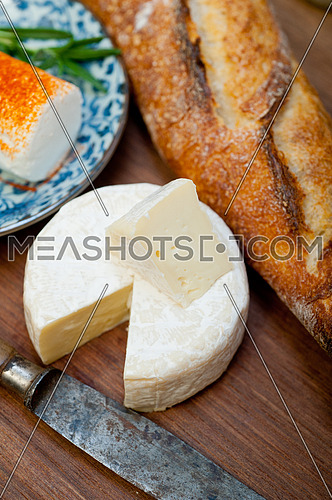 French cheese and traditional baguette