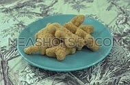 Chicken nuggets in a plate