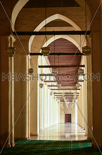 Hakem Mosque hallway on one side of the mosque