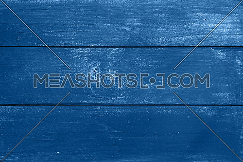 Dark blue vintage grunge old painted wooden plank background texture with stains and brushed faded woodgrain