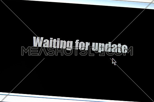 waiting for update sign on lcd display