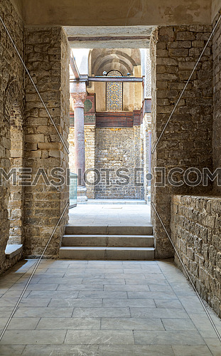 Passage at the complex of Sultan Qalawun, Al Moez Street, Cairo, Egypt