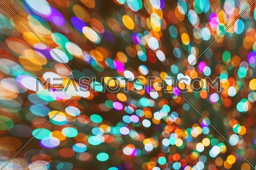 Christmas holiday lights abstract circular bokeh background