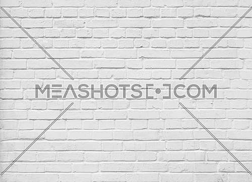 White painted brick wall background texture pattern; close up