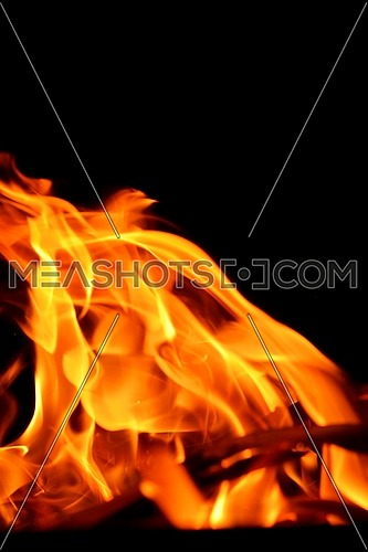fire flame background pater frame on black background