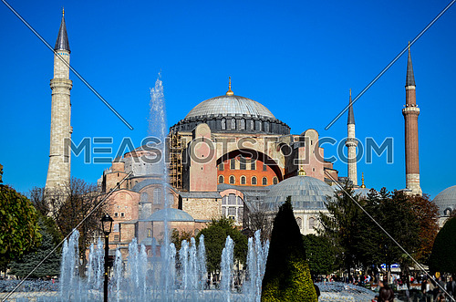 The famous Hagia Sophia in Istanbul,Turkey.