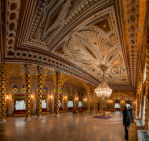 Long shot inside Prince Mohamed Ali Palace in Manial