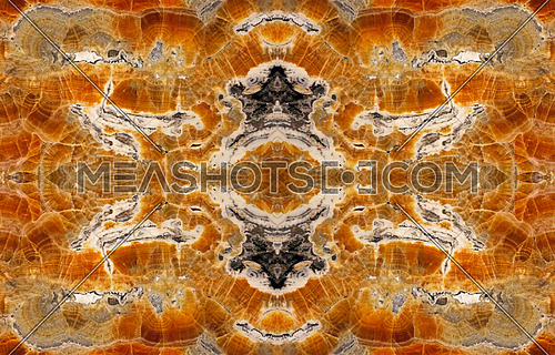 Close up abstract fractal of brown mineral gemstone