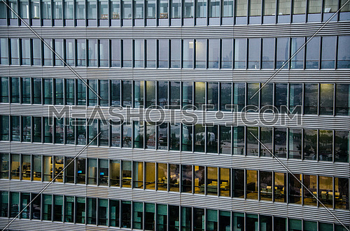 a section of an office building shot from outside