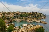 Marina of Antalya city, Turkey