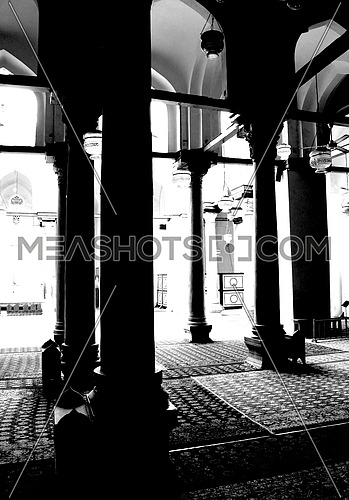Ancient mosque interior - ancient Cairo