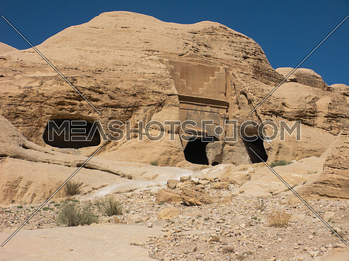 one of the tombs of Petra, Jordan