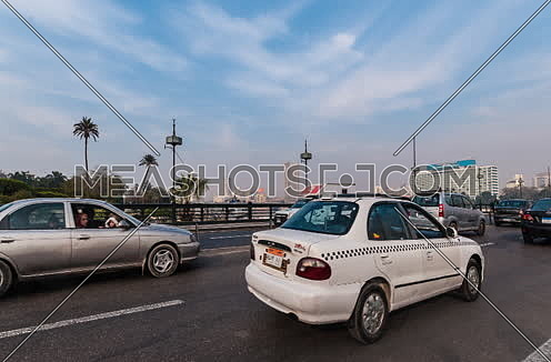 Zoom Out Shot for inside Qasr Al Nile Bridge at Day