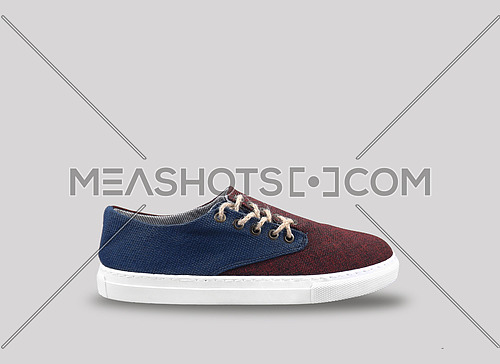 men shoes in grey background