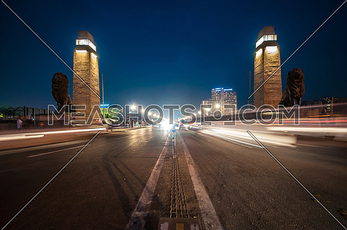Long shot for Qasr Al Nile Bridge at Night