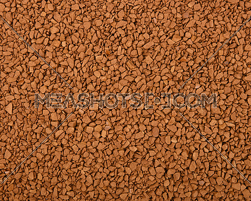 Close up background texture of freeze dried instant coffee granules