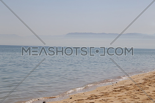 Ain Sokhna Sandy Beach with Mountains in the background