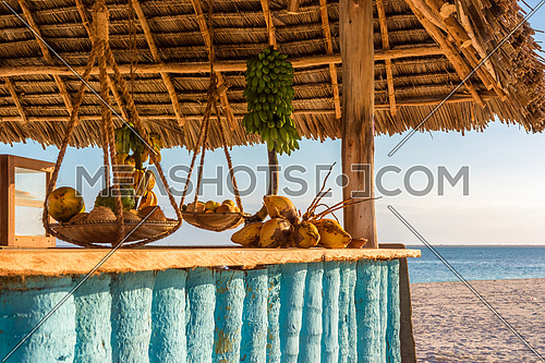 Typical beach bar at Zanzibar