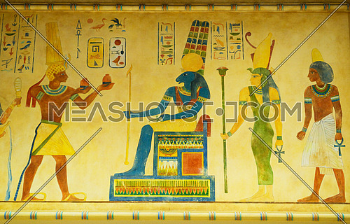 Egyptian concept with paintings on the wall