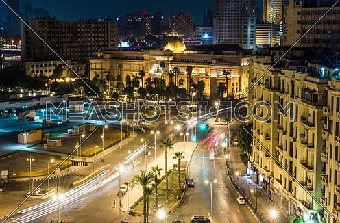 Timelapse for Tahrir Square showing Egyptian Museum