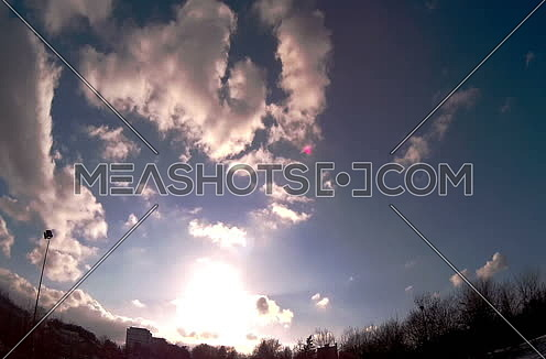 Clouds moving in time lapse