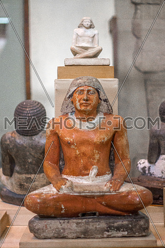 The Egyptian writer statue