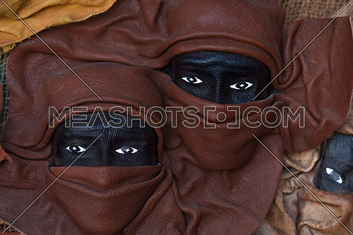 Nubian faces mask decorations