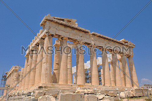 parthenon famous european tourist  travel destination in greece athens
