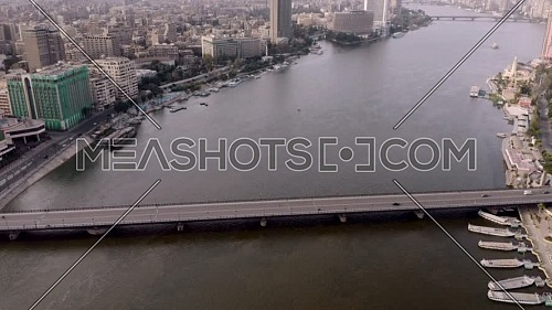 Flying over kasr elnil bridge in cairo
