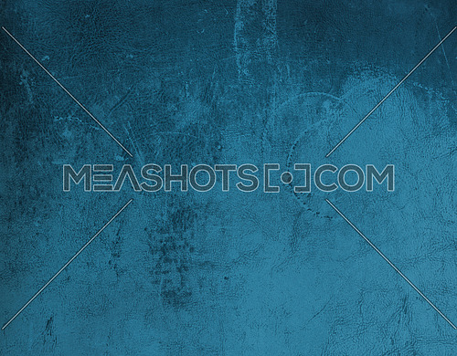 Grunge uneven abstract background of dark blue leather grain texture with stains and scratches