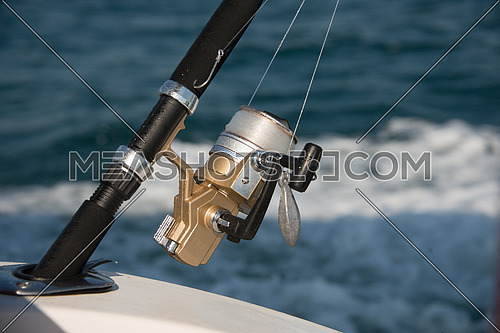 close up on fishing rod