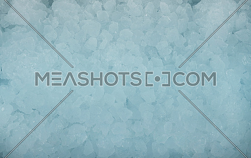Close up background texture of crushed ice, directly above