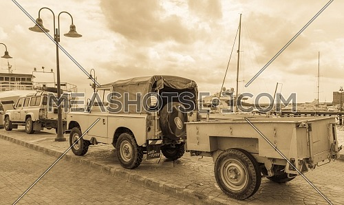 Old Landrover truck in Cyprus
