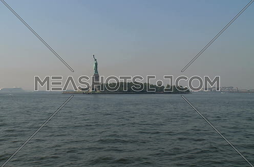 statue of liberty shot from a boat