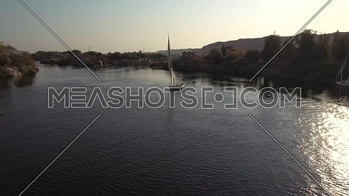 flying over Boats in Nile River in Aswan