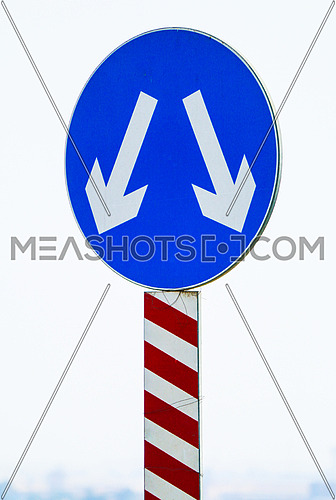 Right or Left sign - traffic- road signs